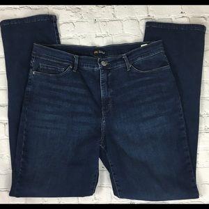 Lee Slim Straight High Waist Jeans Sz 12